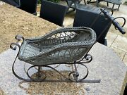 Rare Antique Sled For French Fashion Bisque Doll