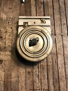 """Vintage Rotary On/off Switch Porcelain Mount Hart And Hegeman 5 1/2"""" Wide"""