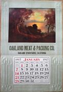 Oakland, Ca 1917 Advertising Calendar/18x27 Poster Meat And Packing - California