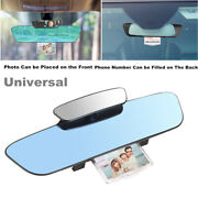 3 In 1 Car Interior 330mm Wide Convex Curve Clip On Rear View Mirror Extender
