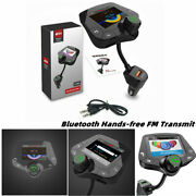 Car Hands-free Fm Transmitter Bluetooth Mp3 Radio Adapter Kit Usb Charger