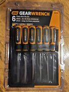 New Gearwrench 6pc Mini Ergonomic Handle Bastard File Set With Pouch 82821h