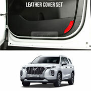 Leather Cover Set Protector Anti Scratch Kick Shield For Hyundai 2019+ Palisade