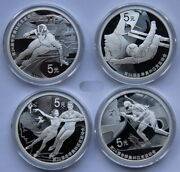 China 2020 Beijing 2022 The 24th Olympic Winter Games Silver Coin 4x15g 5 Yuan