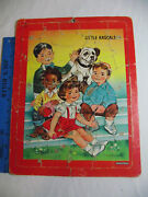 Vintage 1950s Little Rascals Puzzle Saalfield Childs Frame Tray Puzzle