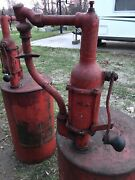 Antique Old Socony Mobil Oil Drum Hand Pump Gas Station Advertising Brunswick