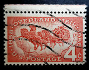 Us Postage Stamp Single 1958 Overland Mail Issue 4 Cent Scott 1120