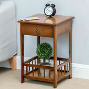 Bamboo End Table Corner Antique Living Room Office Sofa Side Coffee Laptop Table