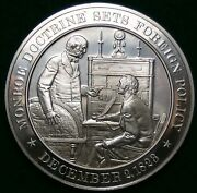 Monroe Doctrine Sets Foreign Policy1823 Franklin Mint Bronze Medal