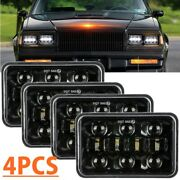 4pcs 4x6inch Hi/lo Beam Led Headlights For Chevy C10 C20 C30 Camaro Ford 81-87