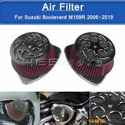 Motorcycle Dual Air Intake Filter Cleaner For Suzuki M109r Boss 2006-19 Vzr1800