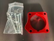 Red Throttle Body Spacer 06-08 Acura Tsx 2.4l K24 P309r