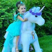Official Riding Horse White And Purple Unicorn No Battery No Electricity Small