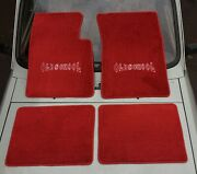 Fit For Chevy Impala Hot Rod Lowrider Oldschool Floor Mats Carpet Red 1959-66