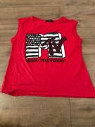 Womens Mtv Red Tank Top Small