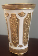 Very Rare Stunning Lenox Vase Hand Decorated With 24k Gold -exc