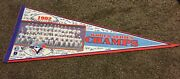 Mlb 1992 Toronto Blue Jays World Series Champs Team Picture Pennant 12 X 30