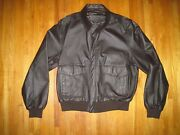 Dekalb Strong Roots Strong Yields Brown Leather Bomber Farm Jacket Size Xxl New