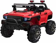 12v Kids Electric 2-seater Ride On Police Car Suv Truck Toy With Parental Remote