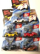 Lot Of 5 Cars Hot Wheels Die-cast Cars Speed Racer Cars W/ Movie Accessory 2007
