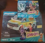 Playmobil Scooby-doo Mystery Machine Set 70286 And 70287 Bundle In Hand