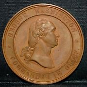 1878 Valley Forge Centennial Medal ✪ Unc ✪ George Washington L@@k Now ◢trusted◣