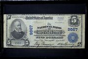 1902 Pb 5 National Bank Note ✪ North Hudson At Union City ✪ Nj 9867 ◢trusted◣