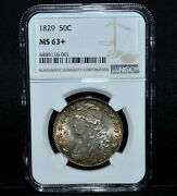 1829 Capped Bust Half Dollar ✪ Ngc Ms-63+ Plus ✪ 50c Silver Unc Bu L@@k◢trusted◣