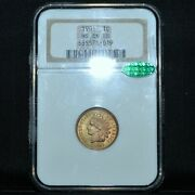 1901-p Indian Head Cent ✪ Ngc Ms-66-rb Cac ✪ 1c Unc Old Fatty Holder ◢trusted◣
