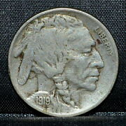 1919-s Buffalo Nickel ✪ Xf ✪ 5c Extremely Fine San Francisco L@@k Now ◢trusted◣