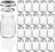 Magnetic Spice Mason Jars 12 Oz With Regular Lids/band Ideal For Kitchen Storage
