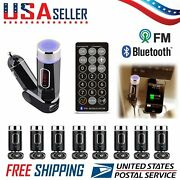 Wholesale Car Bluetooth Fm Transmitter Usb Charger W/ Remote Control Hands Wf