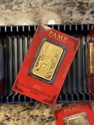 1 Oz Gold Bar - Pamp Year Of The Monkey 2016 - Price Increase 3/1