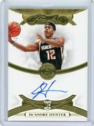 2019/20 Panini Flawless Gold Rookie Autograph Ra-dah Deand039andre Hunter 05/10