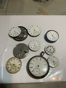 Lot Of 9 Elgin Pocket Watches For Parts And Repair Steampunk