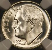 1948 S 10c Roosevelt Dime Certified Ngc Ms68ft Full Torch/band Pristine Registry
