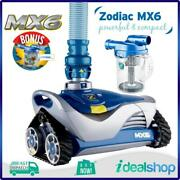 Zodiac Mx6 Pool Cleaner With X-drive Navigation And Cyclonic Leaf Eater