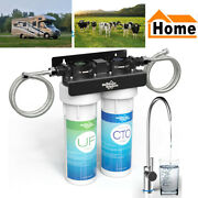 2 Stage Under Sink Water Filter Drinking Filtration Systems For Rv/farm/home
