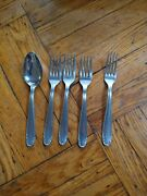 Vintage Rostfrei Polida Stainless Replacement Fork Spoon Set 5 Pieces