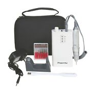 Manicure Pedicure Electric Nail Drill -rechargeable 12 Attachments Light Case