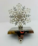 Harvey Lewis Stocking Hanger Snowflake Crystals From D2101r