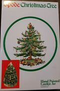 Spode Christmas Tree Figural Ceramic Cookie Jar Hand Painted Porcelain 13 X 9