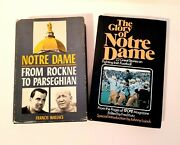 Lot Of 2 Notre Dame Football Books