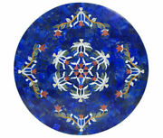 24 Marble Dining Table Top Inlay Rare Semi Round Center Coffee Table Ar0658