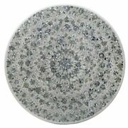 40 Marble Dining Table Top Inlay Rare Semi Round Center Coffee Table Ar0664