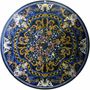 42 Marble Dining Table Top Inlay Rare Semi Round Center Coffee Table Ar0665