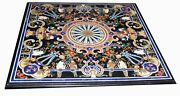 48 Marble Dining Table Top Inlay Rare Semi Antique Center Coffee Table Ar0685