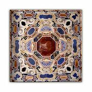 48 Marble Dining Table Top Inlay Rare Semi Antique Center Coffee Table Ar0687