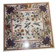 48 Marble Dining Table Top Inlay Rare Semi Antique Center Coffee Table Ar0690