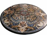 48 Marble Dining Table Top Inlay Rare Semi Round Center Coffee Table Ar0699